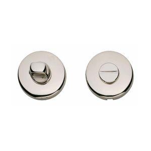 Intersteel Living 3163 WC-sluiting 8 mm bol rond verdekt kunststof nikkel 0018.316360 - A1202979 - afbeelding 1
