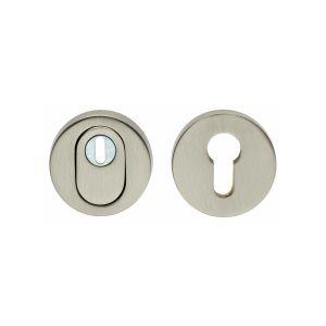 Intersteel Living 3751 SKG3 veiligheids rozet rond met kerntrek beveiliging nikkel mat 0019.375100 - A1203718 - afbeelding 1