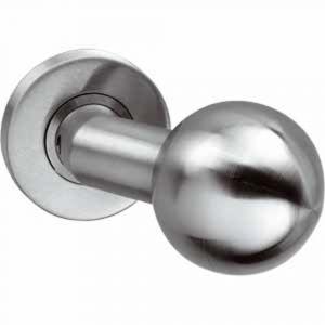 Intersteel 0614 deurkruk gatdeel bol-schuin op rozet met ring met veer RVS 0035.061402A - A1201139 - afbeelding 1