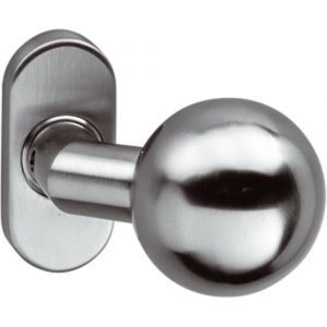 Intersteel 0773 deurkruk gatdeel knop bol brandvertragend met rozet ovaal RVS 0035.077302A - A1201562 - afbeelding 1