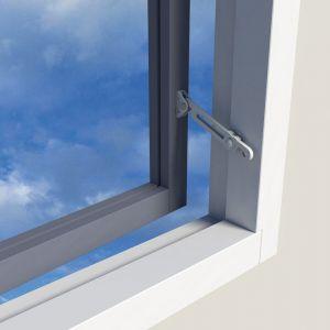 SecuMax oplegslot raamuitzetter voor buiten draaiende ramen RAL 8014 sepia bruin slot - A30200348 - afbeelding 1