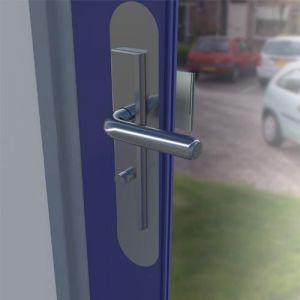 SecuMax deurbeveiliging anti manipulatieplaat RVS F1 geborsteld RVS 35x225 mm - A30200346 - afbeelding 1