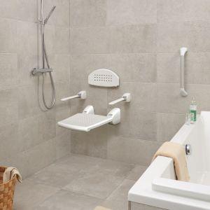 SecuCare armleuning voor douchezitje en douchestoel wit opklapbaar - A30200210 - afbeelding 2