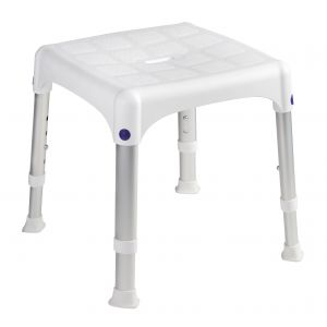 SecuCare badopstapje vierkant wit verstelbaar in hoogte 270-340 mm - A30200309 - afbeelding 1