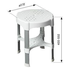 SecuCare douchekruk wit uitschuifbaar hoogte 400-550 mm - A30200212 - afbeelding 3