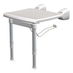 SecuCare douchestoel met uitschuibare pootjes wit opklapbaar 420x380 mm - A30200208 - afbeelding 1