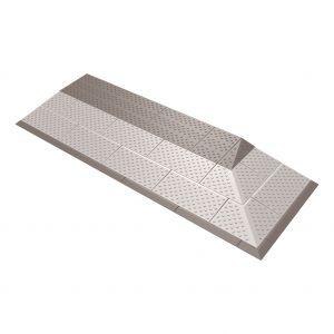 SecuCare drempelhulp grijs-bruin set 3 laags 2-zijdig oprijdbaar 450x1160 mm - A30200259 - afbeelding 1