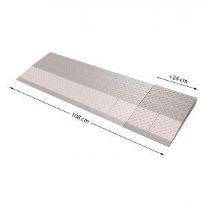 SecuCare drempelhulp verbredingsset grijs-bruin 330x240 mm - A30200233 - afbeelding 1