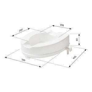 SecuCare toiletverhoger zonder klep wit hoogte 60 mm - A30200222 - afbeelding 3