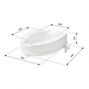 SecuCare toiletverhoger zonder klep wit hoogte 100 mm - A30200223 - afbeelding 3