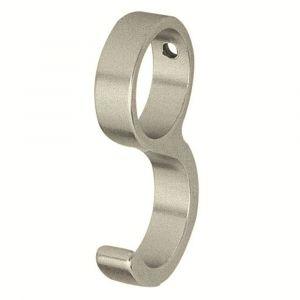 Hermeta 0591 schuifhaak voor ronde garderobe buis 19 mm nieuw zilver - A11000357 - afbeelding 1