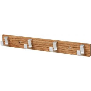 Hermeta 0654 handdoekrek 4 haaks hout aluminium - A11000706 - afbeelding 1