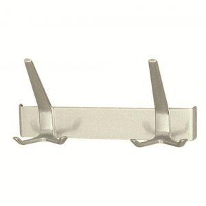 Hermeta 0862 garderobe kapstok 2x haak nummer 860 nieuw zilver - A11000604 - afbeelding 1