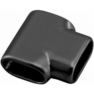 Hermeta 1280 tee horizontaal voor garderobebuis 1010 zwart - A11001583 - afbeelding 1