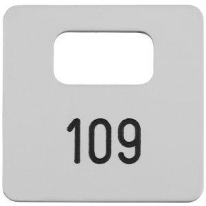 Hermeta 2100 garderobe nummerplaatje Gardelux-2 voor bezoeker zilver - A11000570 - afbeelding 1