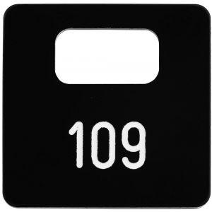 Hermeta 2100 garderobe nummerplaatje Gardelux-2 voor bezoeker zwart - A11000574 - afbeelding 1