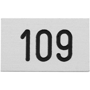 Hermeta 2105 garderobe nummerplaatje Gardelux-2 voor garderobelijst zilver - A11000576 - afbeelding 1