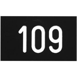 Hermeta 2105 garderobe nummerplaatje Gardelux-2 voor garderobelijst zwart - A11000575 - afbeelding 1