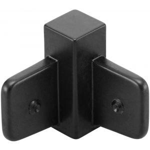 Hermeta 2135 binnenhoek Gardelux-2 voor garderobelijst 2000 zwart - A11000308 - afbeelding 1