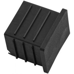 Hermeta 3005 zitbank eindstop voor bankprofiel zwart - A11001346 - afbeelding 1