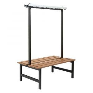 Hermeta 3030 zitbank Gardelux type 6 115 cm houten zitting zwart - A11001338 - afbeelding 1