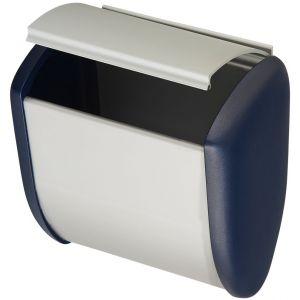 Hermeta 3275 wand afvalbak 2,5 L RAL 5011 EAN sticker - Y20100212 - afbeelding 1