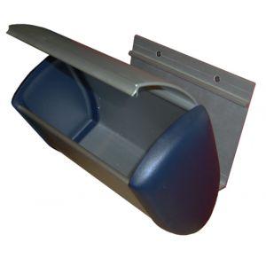Hermeta 3280 wand afvalbak 3,5 L RAL 5011 - A20100213 - afbeelding 1
