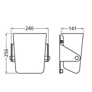 Hermeta 3370 wand afvalbak 4 L grijs - A20100215 - afbeelding 2