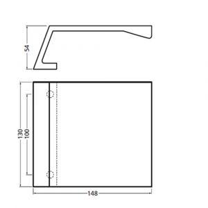 Hermeta 4350 deurduwer 130x148 mm 2x8,5 mm naturel - Y20100171 - afbeelding 2