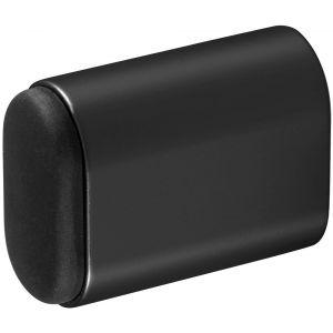 Hermeta 4702 deurbuffer ovaal 50 mm mat zwart - A20101965 - afbeelding 1