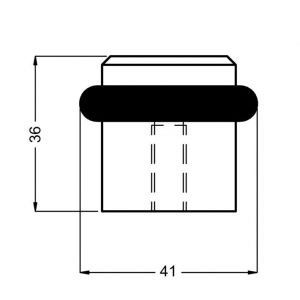 Hermeta 4735 deurbuffer vloer mat zwart - Y20101969 - afbeelding 1