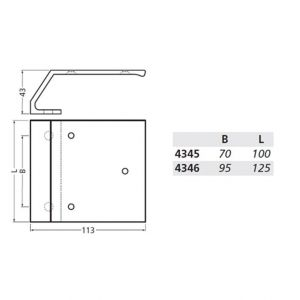 Hermeta 5801 bevestigingsmateriaal deurduwer M8 nieuw zilver - Y20100178 - afbeelding 2