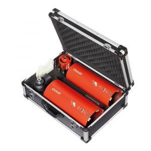 Carat HTESET0300 diamant droogboor set baksteen en abrasieve materialen 82-132-162 mm, Dustec, adapters en aluminium - Y32600051 - afbeelding 1