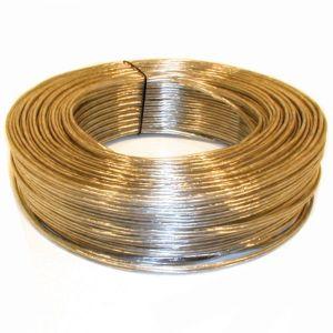 Besli snoer 2 aderig 2x0.75 mm2 rond transparant-zilver - Y51270040 - afbeelding 1