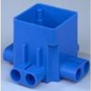 ABB 165C centraaldoos ongelijke spruit 77 mm diep blauw - Y51270007 - afbeelding 1