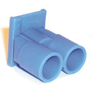 ABB 3562 inzetstuk dubbel 5/8 voor HAF inbouwdoos blauw - Y51270033 - afbeelding 1