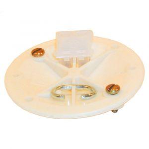 ABB CD/RVK centraaldoosdeksel rond met kroonsteen 71 mm wit - Y51270003 - afbeelding 1
