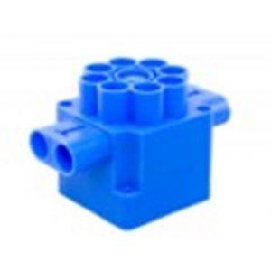 ABB 164 Perfora centraaldoos zij en bodem invoer blauw - Y51270014 - afbeelding 1