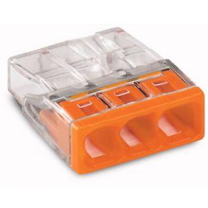 Wago 2273-203 3 V lasklem Mini 3x0.5-2.5 mm2 oranje - A51270111 - afbeelding 1