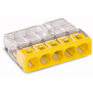 Wago 2273-205 lasklem 5-polig transparant-geel 100 - A51270113 - afbeelding 1