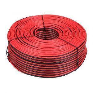 Besli luidsprekerkabel 2x0,75 mm2 rood-zwart 20 m CB - Y51270071 - afbeelding 1