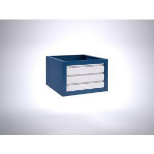 Brakel BLL400.04 ladenblok voor BL werktafel 3x lade 100 mm 600x700x400 mm RAL - Y40630138 - afbeelding 1