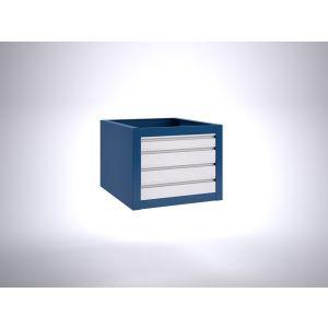 Brakel BLL475.06 ladenblok voor BL werktafel 1x lade 75 mm en 3x lade 100 mm 600x700x475 mm RAL - Y40630140 - afbeelding 1