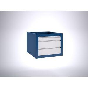 Brakel BLL475.08 ladenblok voor BL werktafel 1x lade 75 mm en 2x lade 150 mm 600x700x475 mm RAL - Y40630142 - afbeelding 1