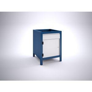 Brakel BW60.02 werkbankblok BW60 1 deur 450 mm en 1 lade 150 mm 600x700x820 mm RAL - Y40630038 - afbeelding 1