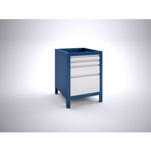 Brakel BW60.09 werkbankblok BW60 4 laden 2x 75, 1x 150 en 1x 300 mm 600x700x820 mm RAL - Y40630045 - afbeelding 1