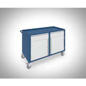 Brakel BM022 werkbank BM verrijdbaar 2 deuren 450 mm en 2 laden 150 mm 1150x600x815 mm RAL - A11500054 - afbeelding 1