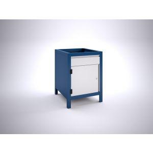 Brakel BW60.02 werkbankblok BW60 1 deur 450 mm en 1 lade 150 mm 600x700x820 mm RAL - A11500038 - afbeelding 1