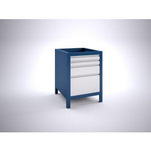 Brakel BW60.09 werkbankblok BW60 4 laden 2x 75, 1x 150 en 1x 300 mm 600x700x820 mm RAL - A11500045 - afbeelding 1