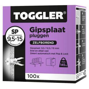 Toggler SP-100 gipsplaatplug SP doos 100 stuks gipsplaat 9-15 mm - Y32650001 - afbeelding 1